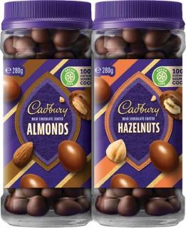 NEW-Cadbury-Chocolate-Coated-Range-280-340g on sale
