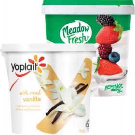 Yoplait-or-Meadow-Fresh-Yoghurt-1kg on sale