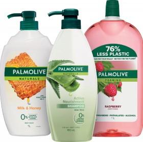 Palmolive-Naturals-Shower-Gel-1L-Foaming-Hand-Wash-Refill-1L-or-Shampoo-700ml on sale