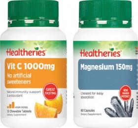 Healtheries-1000mg-Vitamin-C-3035s-or-150mg-Magnesium-60s on sale