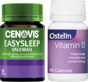Cenovis-Easy-Sleep-30s-or-Ostelin-Vitamin-D-60s on sale