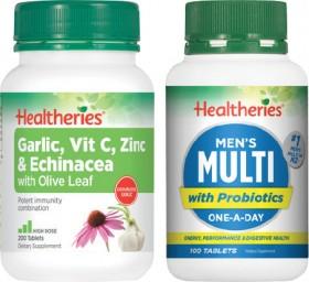 Healtheries-Multi-Vitamin-100s-or-Garlic-Vit-C-Zinc-Echinacea-200s on sale