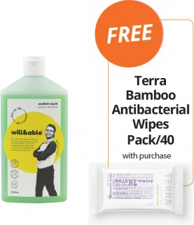 WillAble-Range-FREE-TERRA-BAMBOO-ANTIBACTERIAL-WIPES-PACK40-WITH-PURCHASE on sale