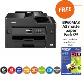 Brother-MFCJ5330DW-Colour-Multifunction-Inkjet-Printer-FREE-BP60MA3-A3-MATTE-PAPER-PACK25-WITH-PURCHASE on sale