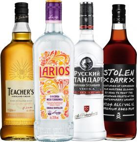 Teachers-Scotch-Whisky-1L-Larios-Mediterranean-Dry-Gin-1L-Russian-Standard-Original-Vodka-1L-or-Stolen-Dark-Rum-1L on sale