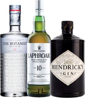 The-Botanist-Islay-Dry-Gin-Laphroaig-10yo-Single-Malt-Whisky-Hendricks-Midsummer-Solstice-Gin-or-Hendricks-Gin-700ml on sale