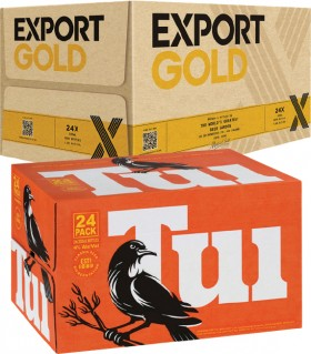 Export-Gold-or-Tui-Bottles-24-Pack on sale