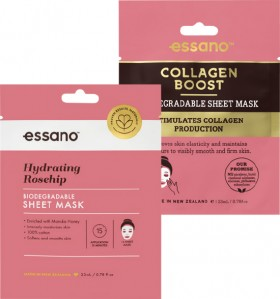 Essano-Rosehip-or-Collagen-Boost-Facial-Sheet-Mask on sale