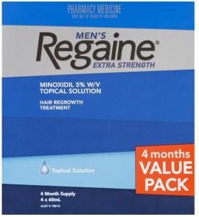Regaine-Mens-Extra-Strength-Hair-Treatment-4-x-60mL on sale