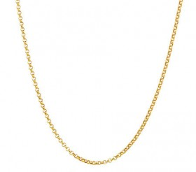 50cm-20-Hollow-Belcher-Chain-in-10ct-Yellow-Gold on sale