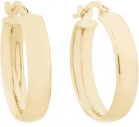 Hoop-Earrings-in-10ct-Yellow-Gold on sale
