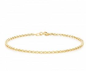 19cm-75-Belcher-Bracelet-in-10ct-Yellow-Gold on sale
