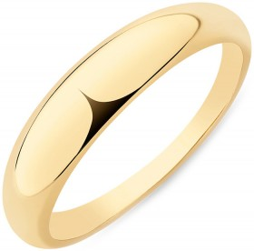 Narrow-Polished-Dome-Ring-in-10ct-Yellow-Gold on sale