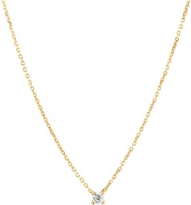 Mini-Solitaire-Necklace-with-Diamond-in-10ct-Yellow-Gold on sale