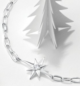 NEW-North-Star-Bracelet-with-Cubic-Zirconia-in-Sterling-Silver on sale