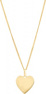 Heart-Pendant-in-10ct-Yellow-Gold on sale