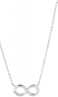 NEW-45cm-17-Infinity-Necklace-with-Cubic-Zirconia-in-Sterling-Silver on sale