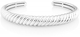 Sculpture-Croissant-Cuff-Bangle-In-Sterling-Silver on sale
