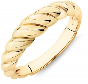 Narrow-Croissant-Dome-Ring-in-10ct-Yellow-Gold on sale