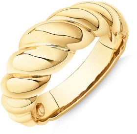 Wide-Croissant-Dome-Ring-in-10ct-Yellow-Gold on sale