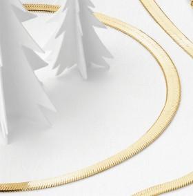 NEW-Herringbone-Bracelet-in-10ct-Yellow-Gold on sale
