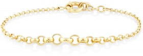 19cm-75-Graduated-Belcher-Bracelet-in-10ct-Yellow-Gold on sale