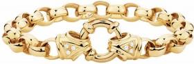Diamond-Set-Belcher-Bracelet-in-10ct-Yellow-Gold on sale