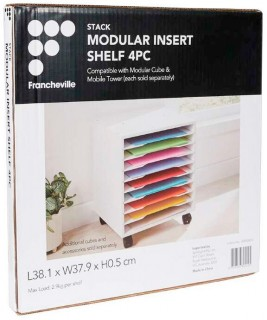 NEW-Francheville-Stack-Modular-Additional-Shelf-Inserts-4-Piece on sale