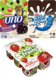 Freshn-Fruity-Anchor-Uno-Yoghurt-or-Anchor-Calci-Yum-Dairy-Food-6-Pack on sale