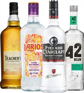 Teachers-Scotch-Whisky-1L-Larios-Mediterranean-Dry-Gin-1L-Russian-Standard-Original-Vodka-1L-or-42-Below-Vodka-Range-700ml on sale