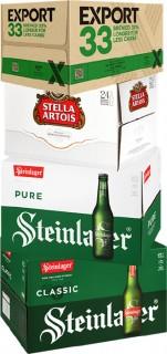 Export-33-Stella-Artois-Steinlager-Pure-or-Steinlager-Classic-24-x-330ml-Bottles on sale
