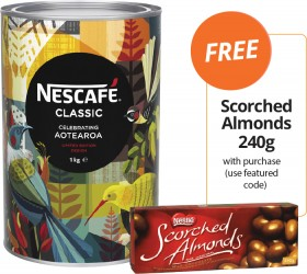 NESCAF-Classic-Instant-Coffee-FREE-SCORCHED-ALMONDS-240G-WITH-PURCHASE on sale