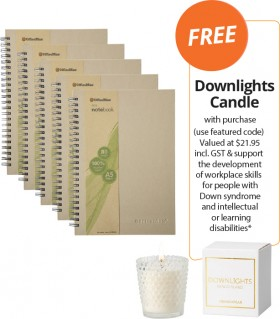 OfficeMax-Eco-Recycled-Notebooks-FREE-DOWNLIGHTS-CANDLE-WITH-PURCHASE on sale
