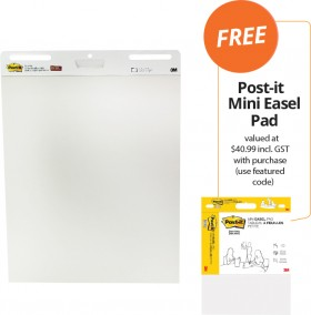 Post-it-Super-Sticky-Easel-Pad-FREE-POST-IT-MINI-EASEL-PAD-VALUED-AT-4099-INCL-GST-WITH-PURCHASE on sale