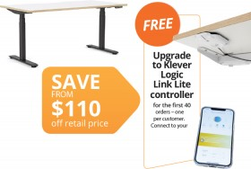 Klever-Height-Adjustable-Desk-FREE-UPGRADE-TO-KLEVER-LOGIC-LINK-LITE-CONTROLLER-FOR-THE-FIRST-40-ORDERS-ONE-PER-CUSTOMER on sale