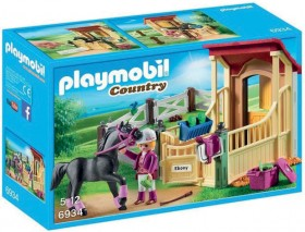 Playmobil-Horse-Stable-with-Araber on sale