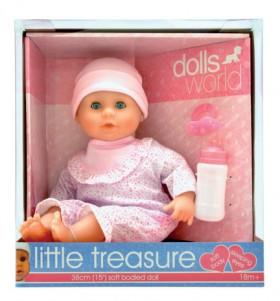 Dolls-World-Little-Treasure-Soft-Bean-Bodied-Doll-38cm on sale