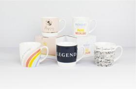 Slogan-Mugs on sale