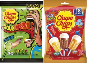 Chupa-Chups-Sour-Infernals-190g-or-3D-Fizzy-Drink-270g on sale